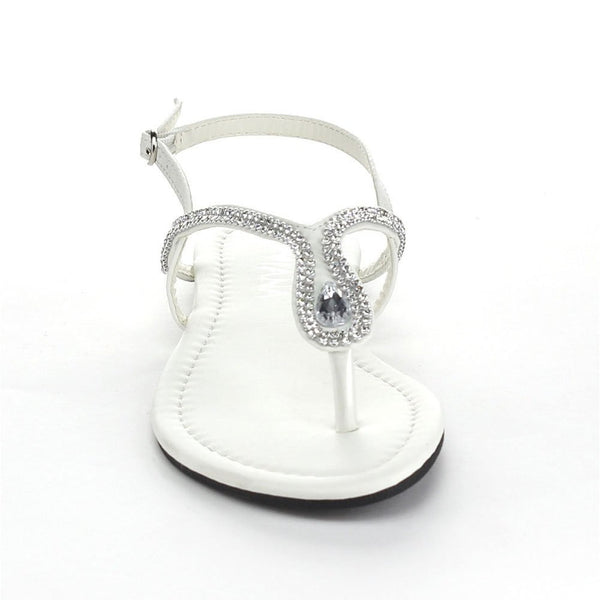 Rhinestone Horseshoe Women's Sling Back Thong Sandals