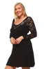 Womens Plus Size Sweetheart Lace A-line Cocktail Dress U.S.A