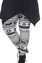 Load image into Gallery viewer, Plus Size Soft Winter Seasonal High Waist Stretch Full Leggings Bottoms