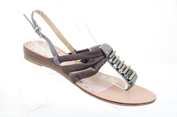 Metal Summer Gladiator Thong Slip On Flip-flop Flat Sandals