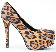 Load image into Gallery viewer, Leopard Classic Vegan Stilleto Hidden Platform Pumps