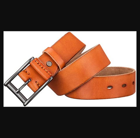 "Men's Genuine Leather Business Dressing Belts, Classic Belts-1.5"" Width"