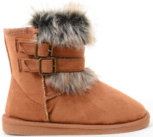Load image into Gallery viewer, Super Furry Shearling Flat Eskimo Boots Women's Vegan Suede