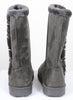 Furry Mid-calf Durable Fur-lined Vegan Suede Boots