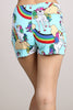 Bright Rainbow Unicorn High Waist Fashion Pride Shorts U.S.A