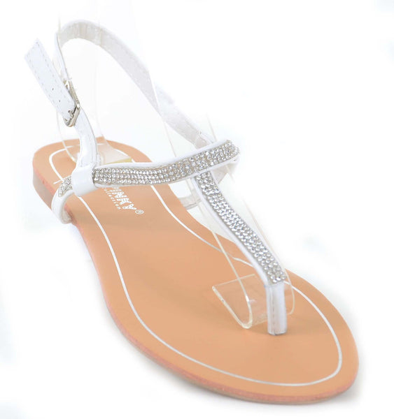 Sparkly Jeweled Bling Wedding Formal Thong Flip-Flop Sandals