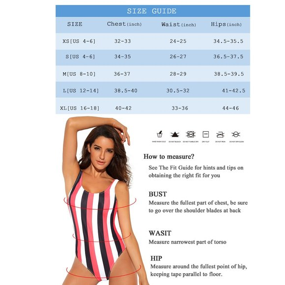 Sexy Colorful Stripe One Piece Swimsuit High Cut