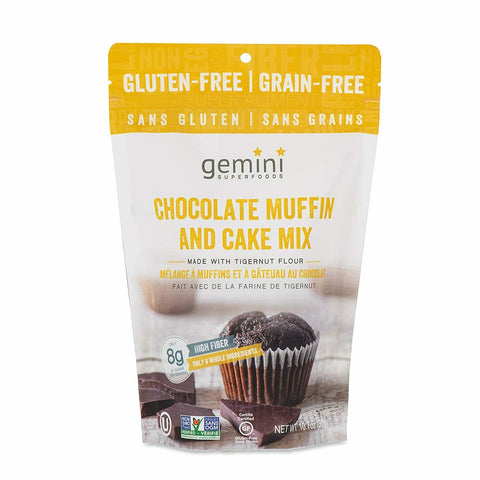 Organic Gemini TigerNut Chocolate Muffin Cake Mix 10.7oz Prebiotic Vegan Paleo