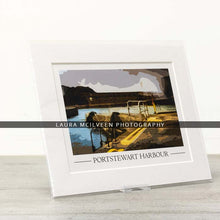 Load image into Gallery viewer, Portstewart Harbour Vintage Style Poster