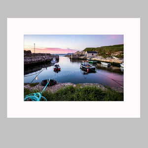 'Pink Sky Reflections' - Ballintoy Harbour