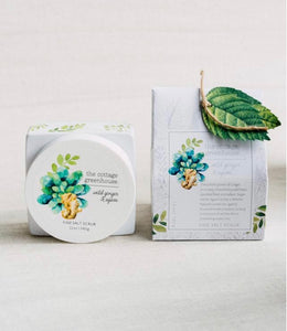 Cottage Greenhouse Wild Ginger & Agave Salt Scrub - Mirror Mirror Brow House