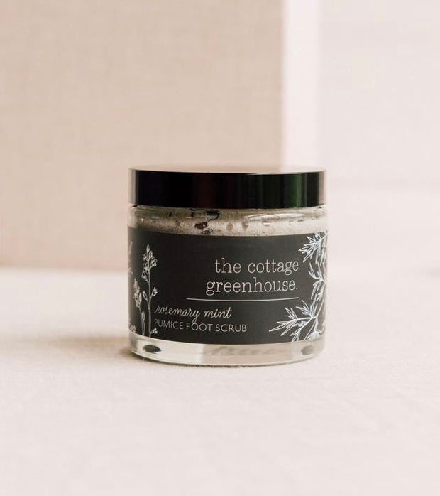 Cottage Greenhouse Rosemary Mint Pumice Foot Scrub - Mirror Mirror Brow House