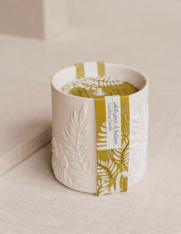 Cottage GH Uplifting | White Pine & Balsam Ceramic Candle - Mirror Mirror Brow House