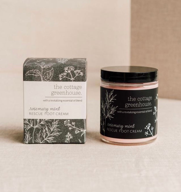 Cottage Greenhouse Rosemary Mint Foot Cream - Mirror Mirror Brow House