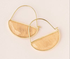 Scout Stone Prism Hoop - Citrine/Gold