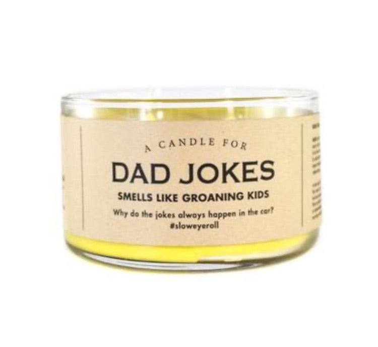 Whiskey River Soap Co. DAD JOKES Candle
