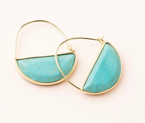 Scout Sone Prism Hoop Earring - Turquoise/Gold