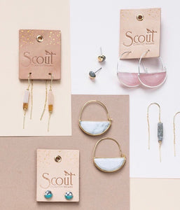 Scout Stone Prism Hoop - Fossil Coral