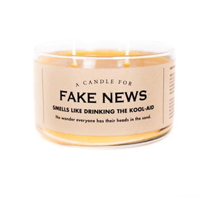 Whiskey River Soap Co. FAKE NEWS Candle