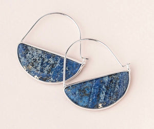 Scout Stone Prism Hoop - Lapis