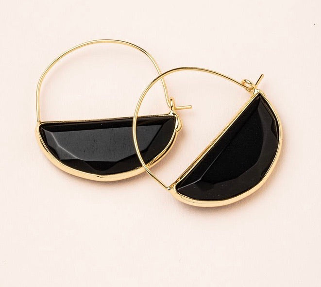 Scout Stone Prism Hoop Earring - Black Spinal