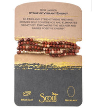 Load image into Gallery viewer, Scout RED JASPER Stone Wrap