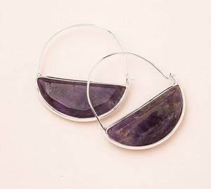 Scout Stone Prism Hoop -Amethyst/Gold