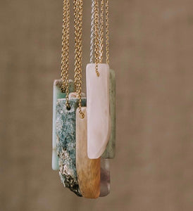 Stone Point Necklace / Majestic Jasper