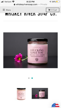 Load image into Gallery viewer, Whiskey River Soap Co. I FUCKING LOVE YOU Candle