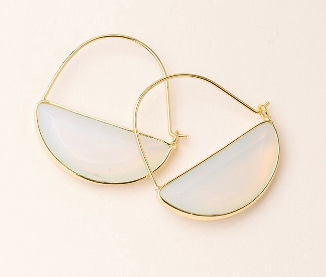 Scout Stone Prism Hoop - Opalite/Gold