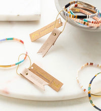 Load image into Gallery viewer, Good Karma Miyuki Bracelet | Good As Gold - Aqua Multi/Gold