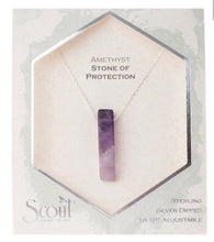 Load image into Gallery viewer, Scout Stone Point Necklace / Amethyst