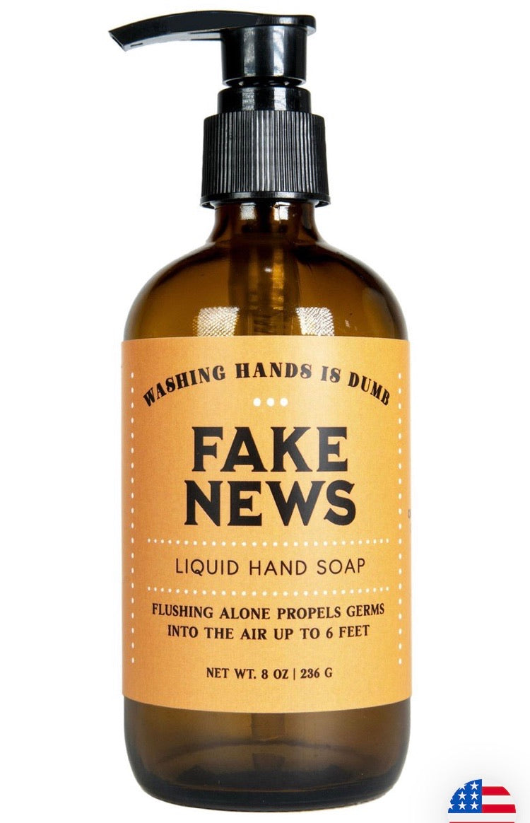 Whiskey River FAKE NEWS! Hand Soap