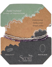 Load image into Gallery viewer, Scout Delicate Stone Wrap Bracelet- Amethyst