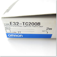 Japan (A)Unused,E32-TC200B 2M  ファイバユニット 透過形 ,Fiber Optic Sensor Module,OMRON