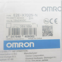 E2E-X7D25-N 2m 円柱型近接センサ 直流2線式 M18 NC ,Amplifier Built-in Proximity Sensor,OMRON