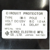IM-1-1H-D1-M 1P 1A  サーキットプロテクタ 補助スイッチ付き ,Circuit Protector 1-Pole,Other