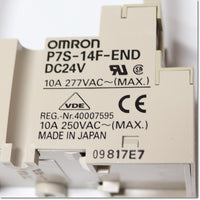 P7S-14F-END セーフティリレーソケット 表示LED付き DC24V ,Safety Relay / Socket,OMRON