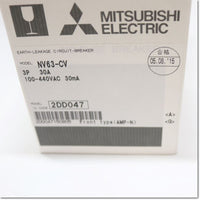 NV63-CV,3P 30A 30mA 漏電遮断器 ,Earth Leakage Breaker 3-Pole,MITSUBISHI