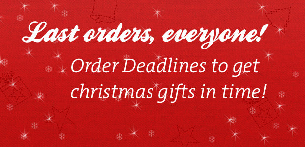 **Christmas Ordering Deadlines and Opening Times**
