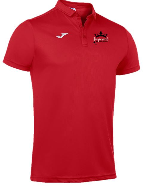 Imperial school of dance Polo Shirt Red Female fit
