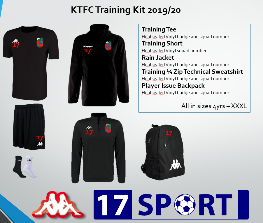 Kendal Town FC Player Issue Training Kit Bundle