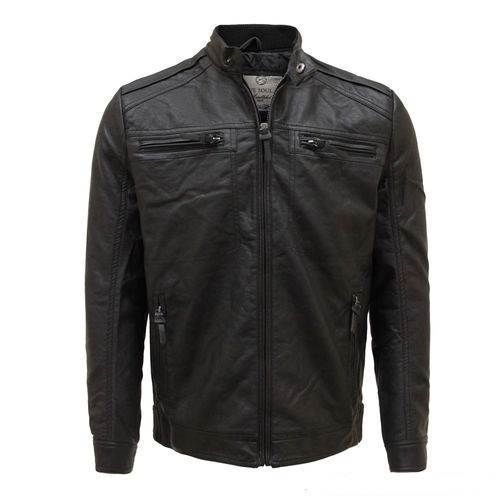 men's crimpled back biker jacket