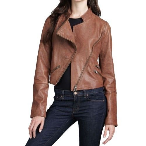 Women's Rust-Biker Jacket - Noora International