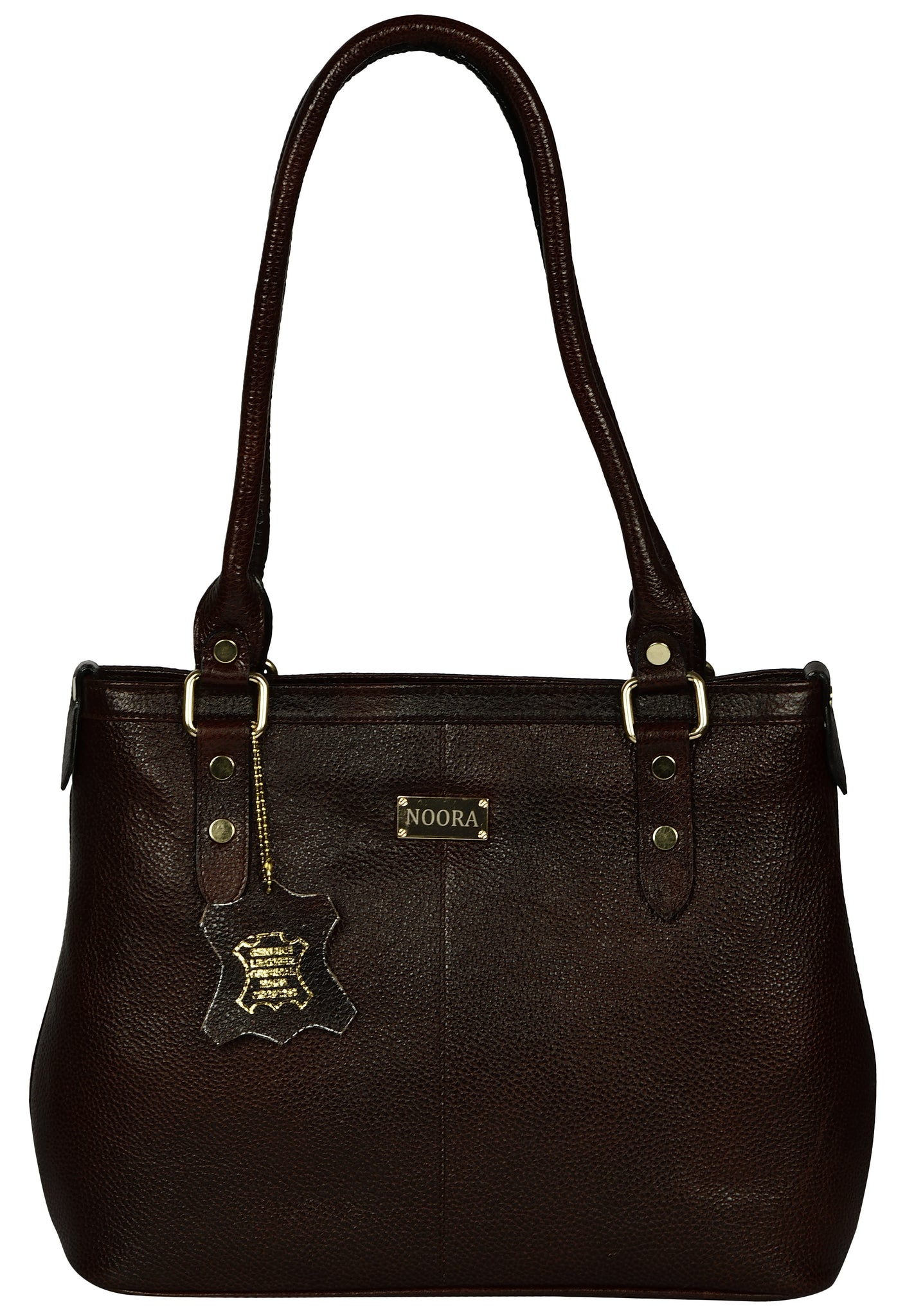 dark brown satchel leather bag