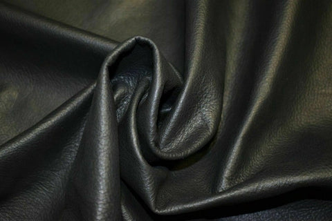 NOORA First Grad Shiny Leather Cowhide 100% Lambskin Cow Smooth Charcoa Upholstery Craft Soft Automotive SJ167