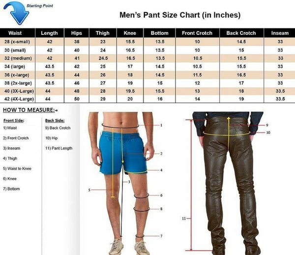 Noora New Men's Real Leather Laces Up Bikers Pants Laces Up Pants leather pants Black Leather Pants WA20