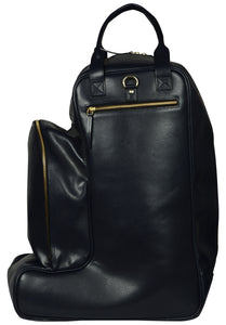black bucket leather bag
