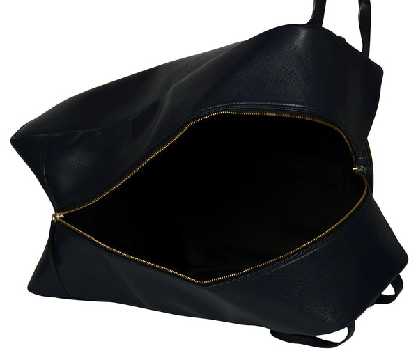 Women's black bucket leather bag