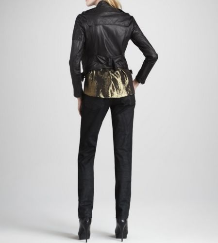 Women's Cropped Black Leather Jacket